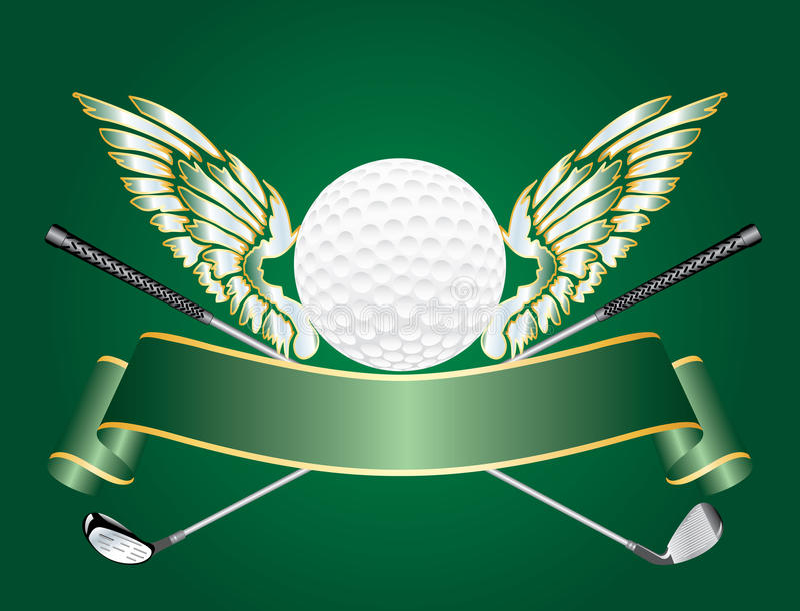 高尔夫球翼 皇族释放例证