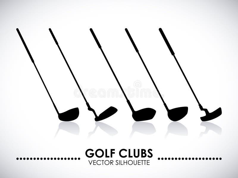 高尔夫球设计 库存例证