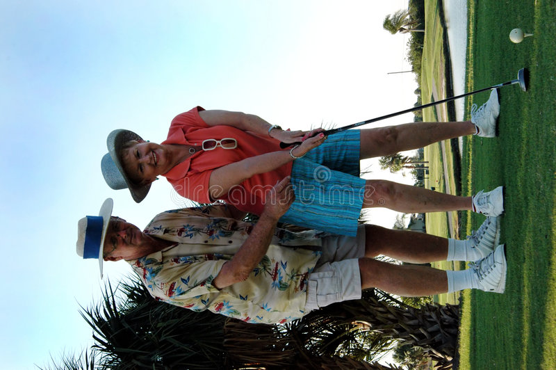 高尔夫球课 库存图片