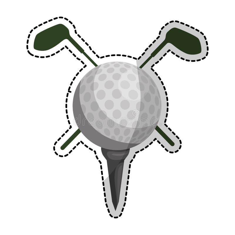 高尔夫球象图象 皇族释放例证