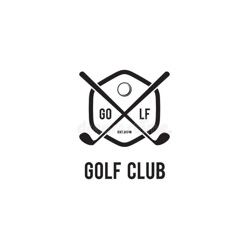 高尔夫球象征的商标设计传染媒介模板 向量例证