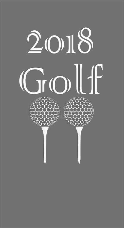 高尔夫球贺卡由纸制成 皇族释放例证