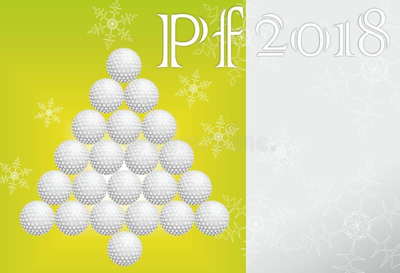 高尔夫球贺卡由纸制成 免版税图库摄影