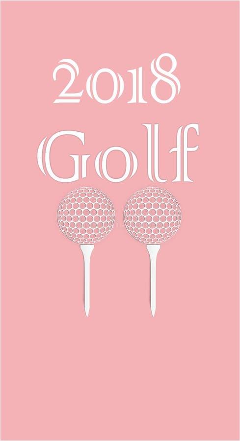 高尔夫球贺卡由纸制成 免版税库存图片