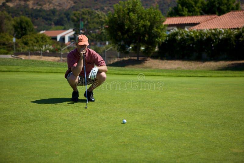 高尔夫球轻轻一击 免版税库存图片