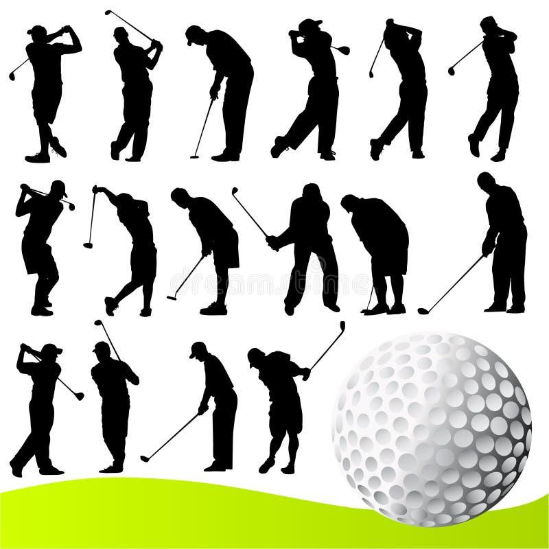 高尔夫球运动员向量 向量例证
