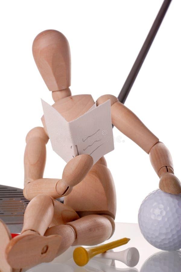 高尔夫球运动员学习者 库存图片
