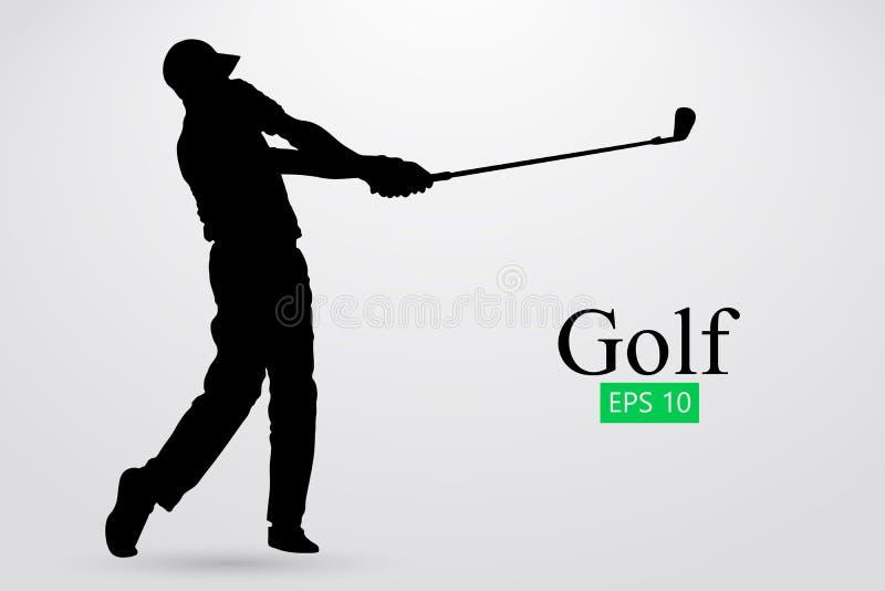 高尔夫球运动员的剪影 也corel凹道例证向量 皇族释放例证