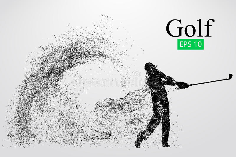 高尔夫球运动员的剪影 也corel凹道例证向量 向量例证