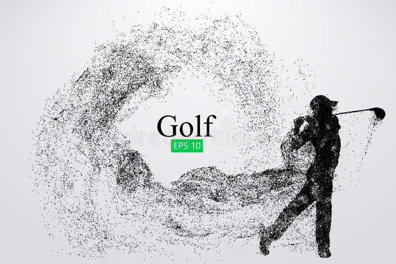 高尔夫球运动员的剪影 也corel凹道例证向量