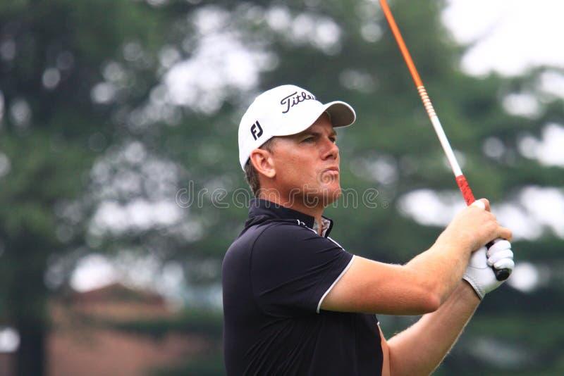 高尔夫球运动员罗伯特・卡尔森 图库摄影