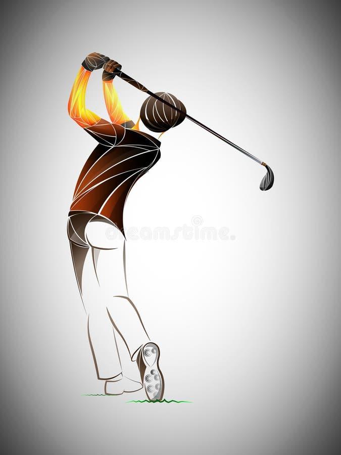 高尔夫球运动员象,高尔夫球运动员摘要 皇族释放例证