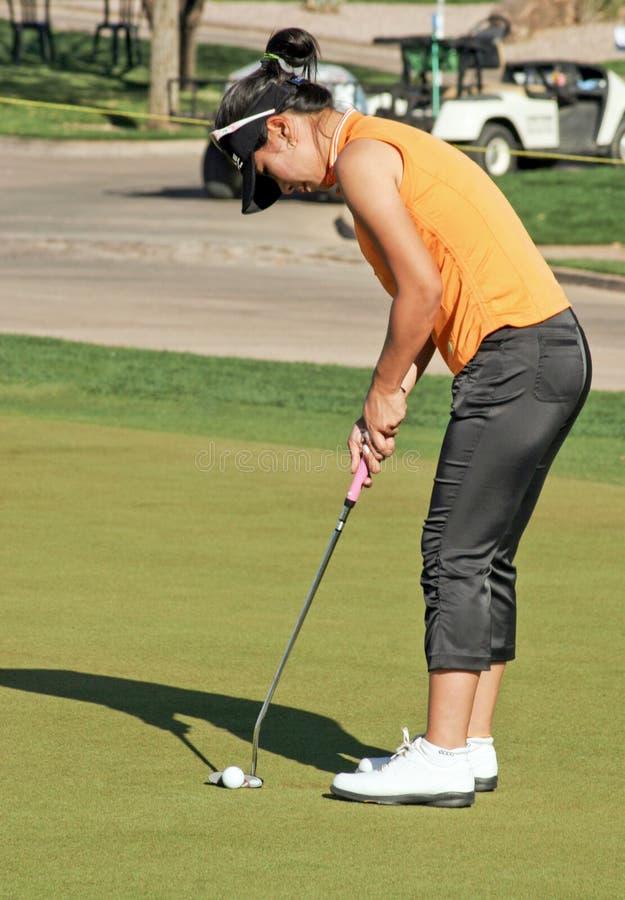 高尔夫球运动员jee庇护lpga赞成年轻人 免版税库存照片
