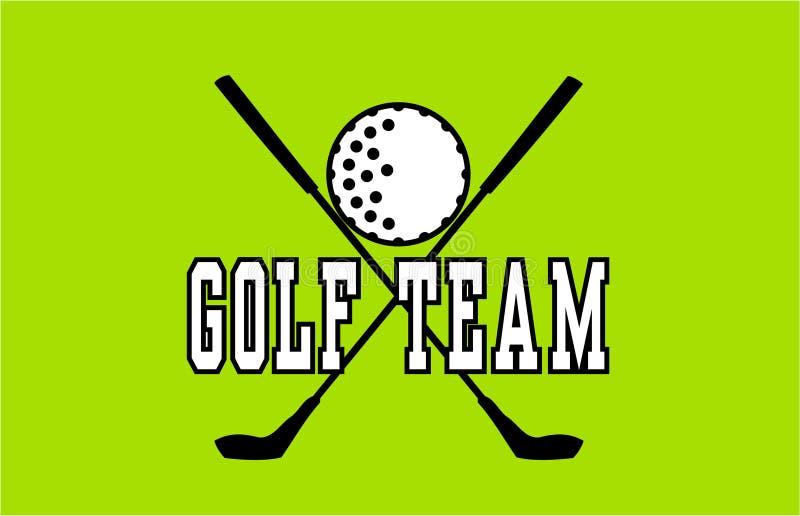 高尔夫球队标签 库存例证