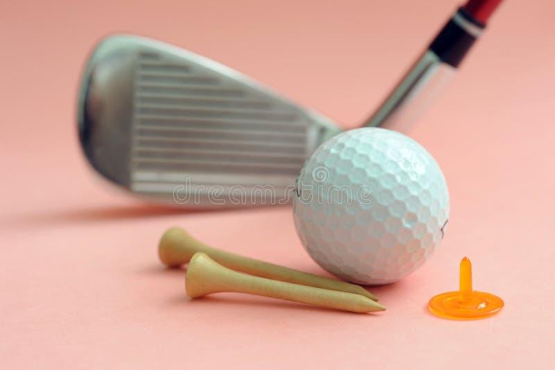 高尔夫球集 免版税图库摄影