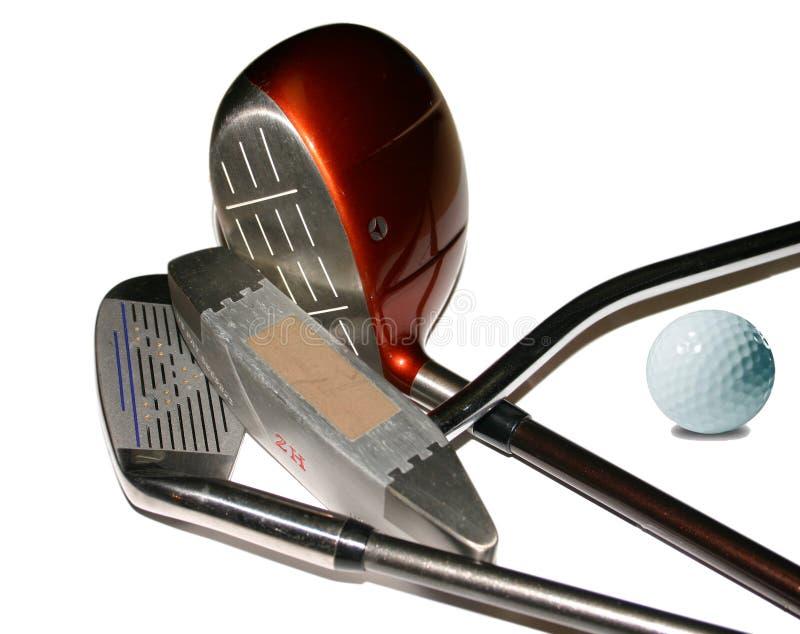 高尔夫球集 免版税库存图片