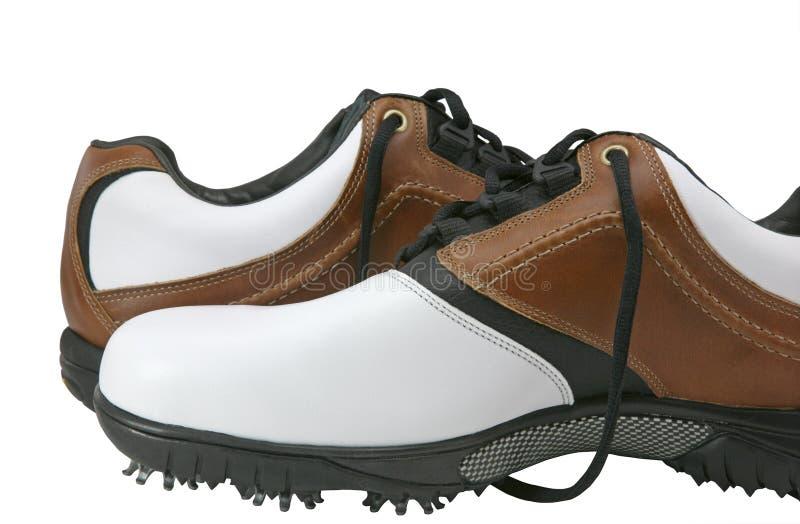 高尔夫球鞋子 免版税库存图片