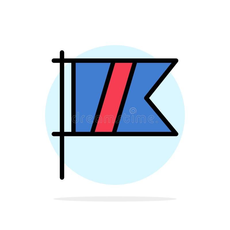 高尔夫球,标志,体育,旗子摘要圈子背景平的颜色象 向量例证