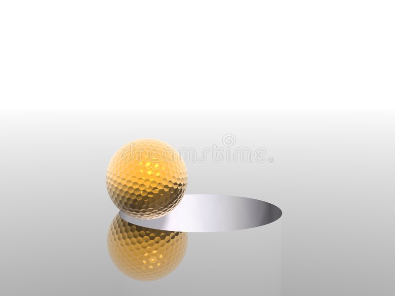 高尔夫球 皇族释放例证