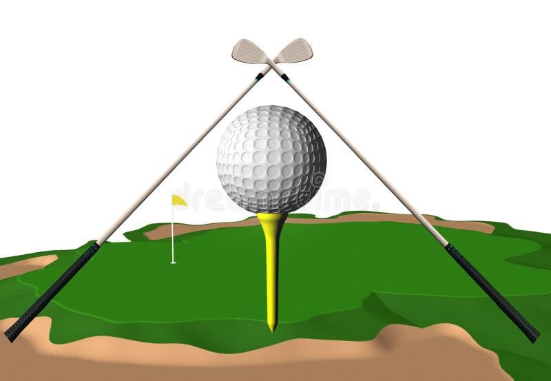 高尔夫球 库存例证