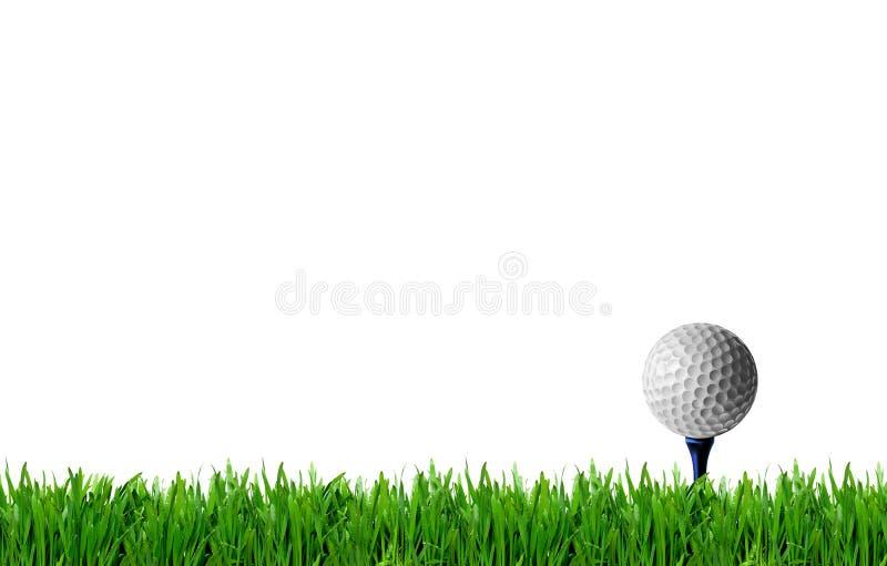 高尔夫邀请设计海报框,草坪上的高尔夫球 库存图片