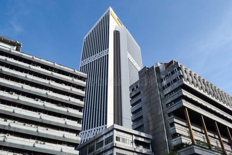 高层企业大厦在吉隆坡的中心 库存图片
