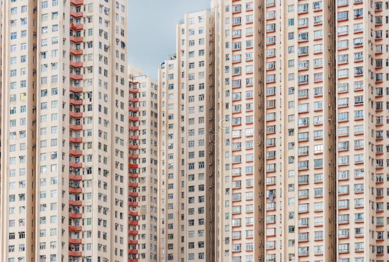 高层居民住房在香港市 库存图片