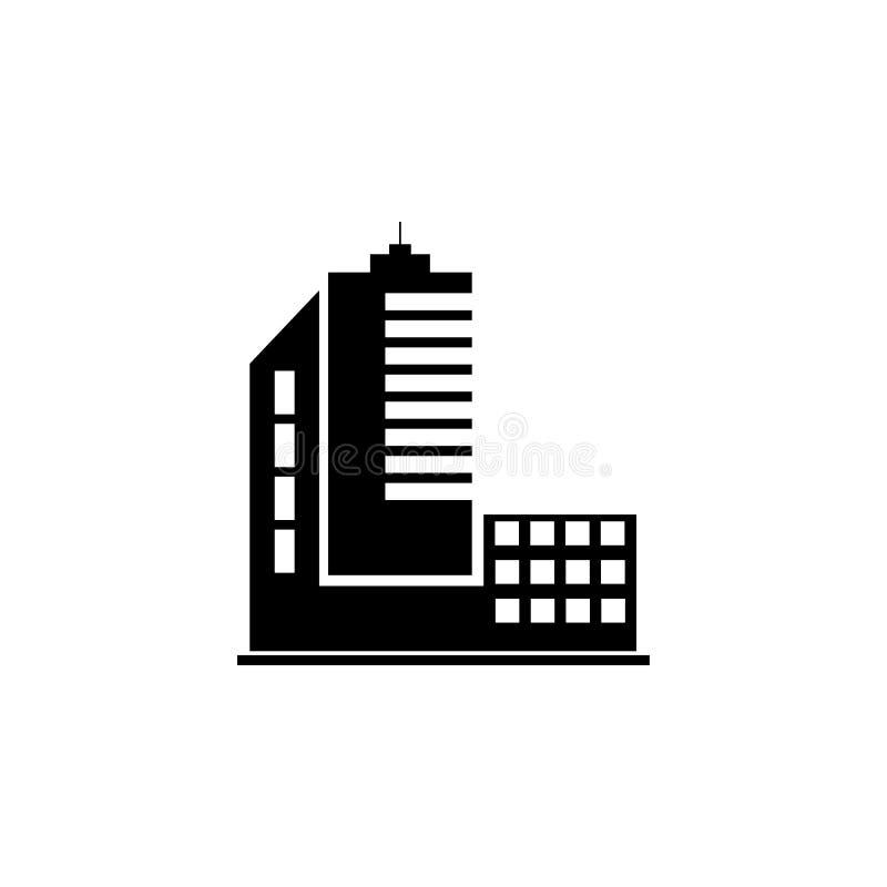 高层建筑物象 大厦象的元素流动概念和网apps的 可以使用详细的高层建筑物象 库存例证