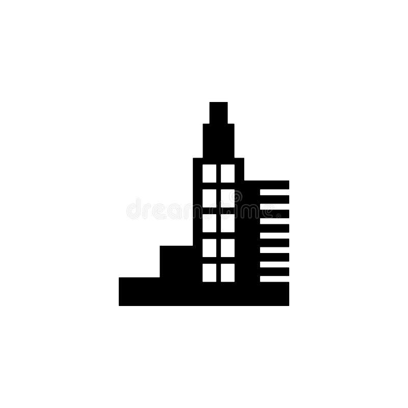 高层建筑物象 大厦象的元素流动概念和网apps的 可以使用详细的高层建筑物象 皇族释放例证