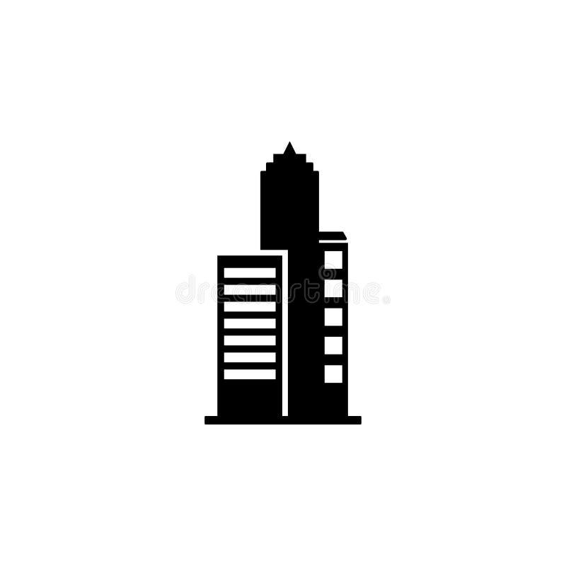 高层建筑物象 大厦象的元素流动概念和网apps的 可以使用详细的高层建筑物象 向量例证