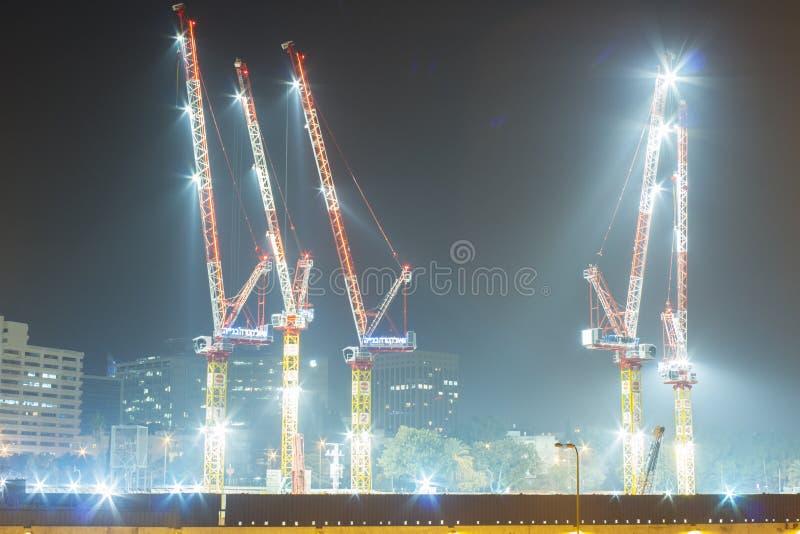 高层建筑物建造场所  库存照片