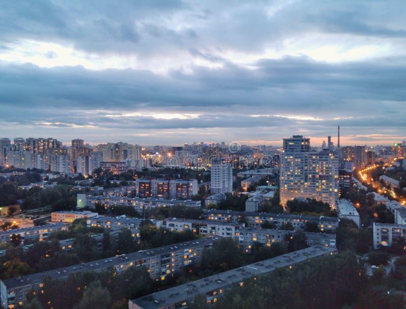 从高屋顶的Ekaterinburg视图 库存图片