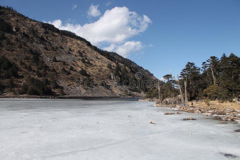 高山冰河湖 免版税库存图片