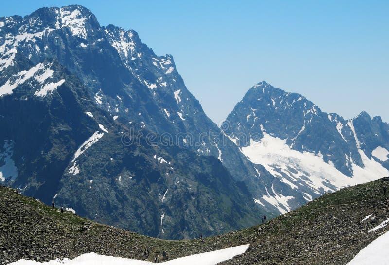 高山和新鲜空气健康的 免版税库存图片