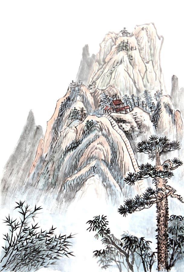 高山国画  免版税库存图片