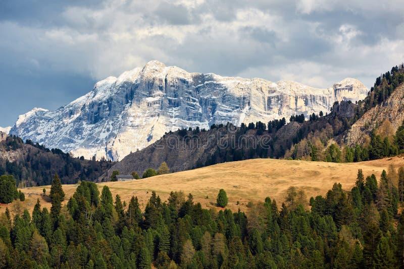 高山山美丽的景色  在意大利北部,风景 库存照片