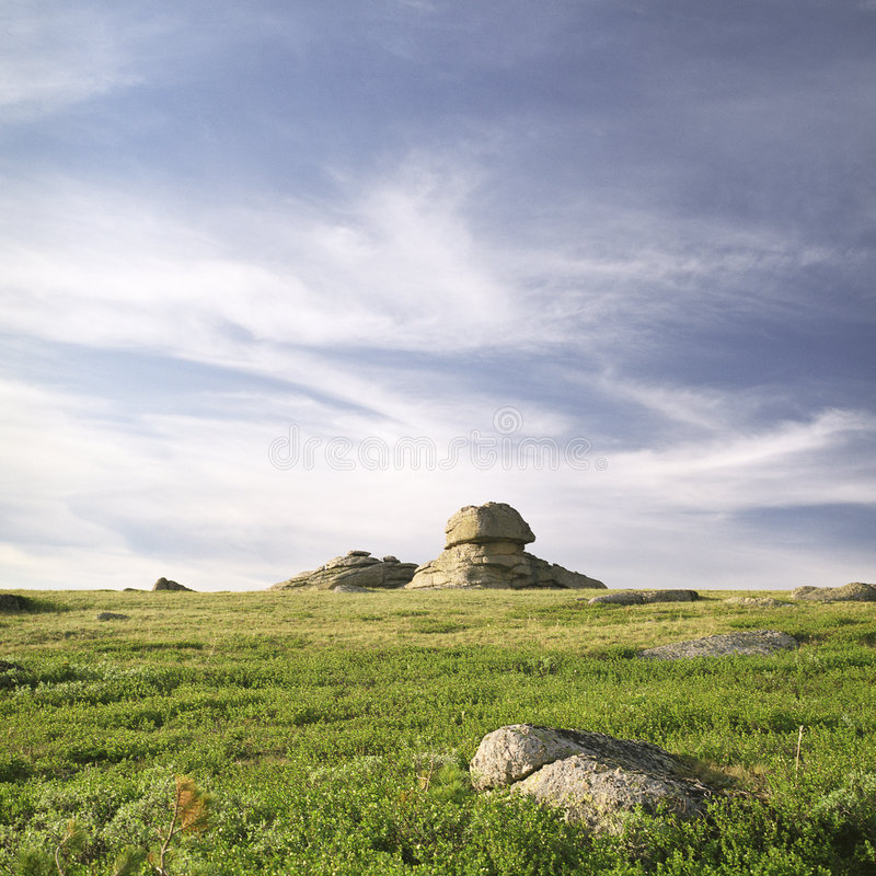 高山岩石 图库摄影