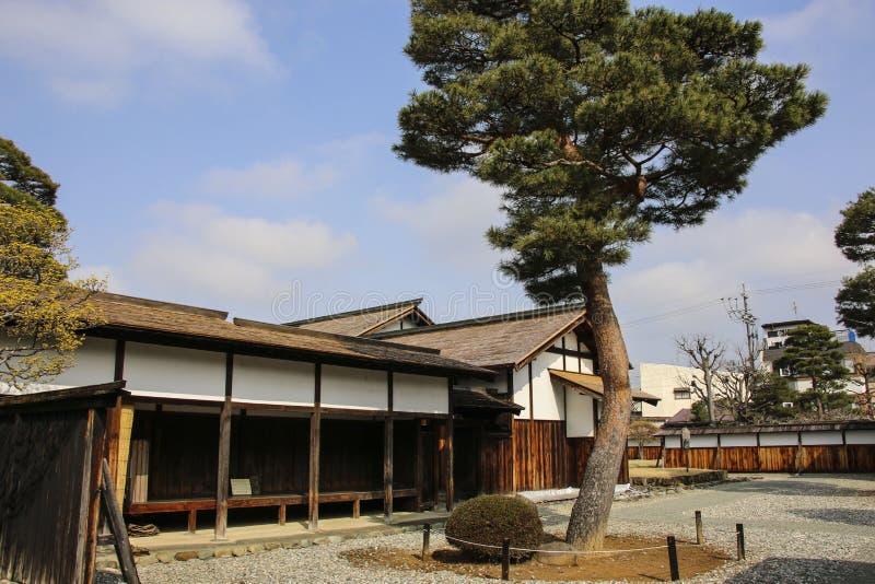 高山市,日本2019年3月27日:伊多Bakufu全国古迹高山市Jinya-分部 免版税库存图片