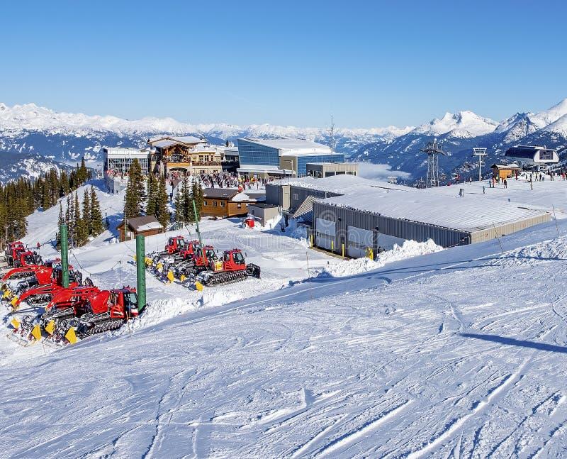高山手段滑雪 图库摄影