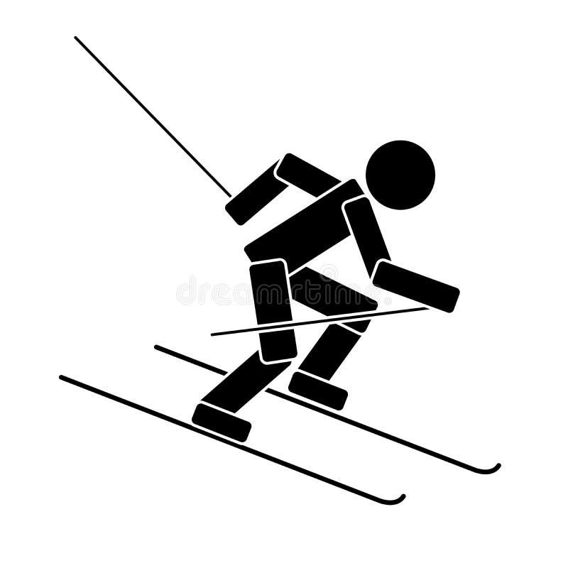 高山滑雪 平的象 皇族释放例证