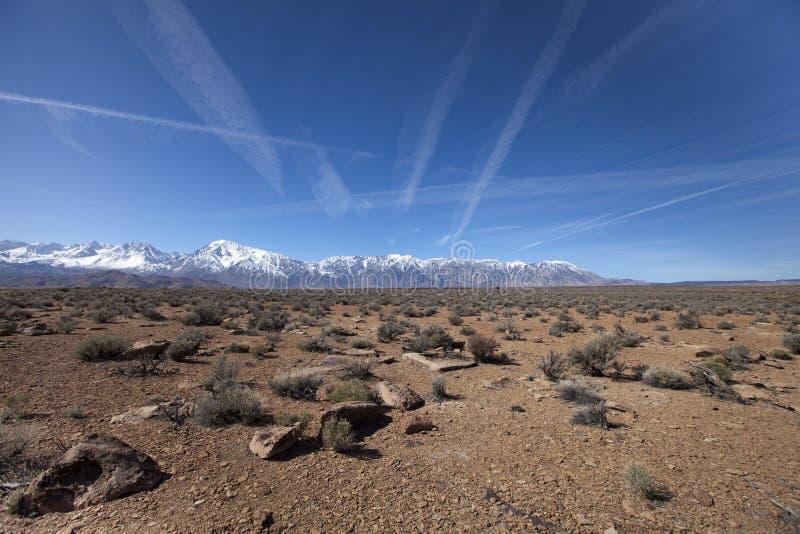 高山脉风景 免版税库存照片