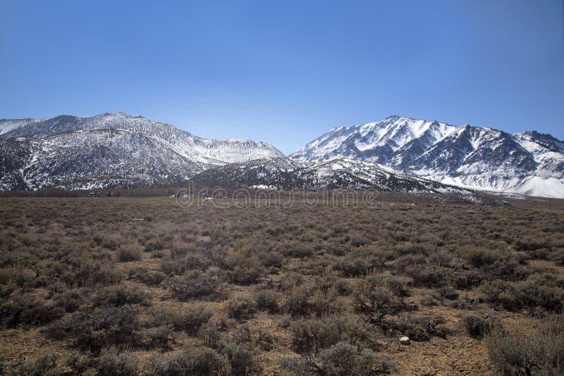 高山脉风景 库存图片