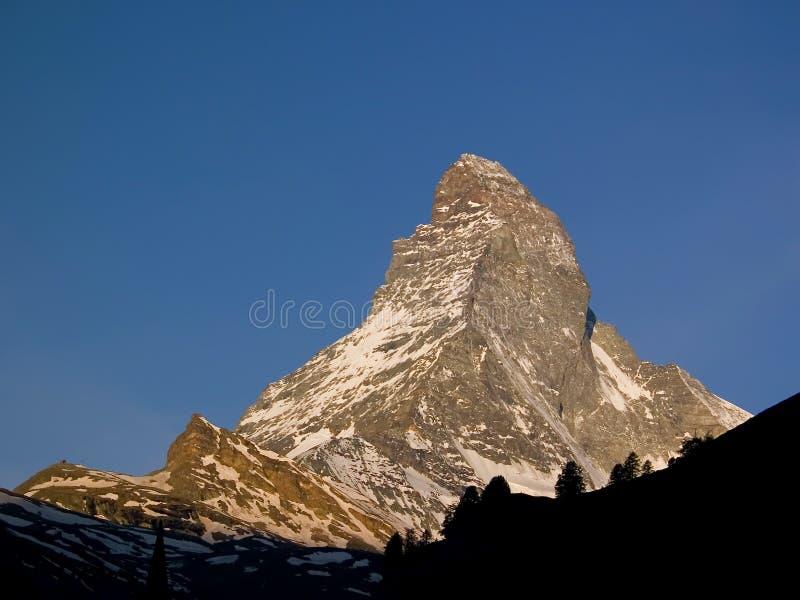 高山马塔角山zermatt 库存图片