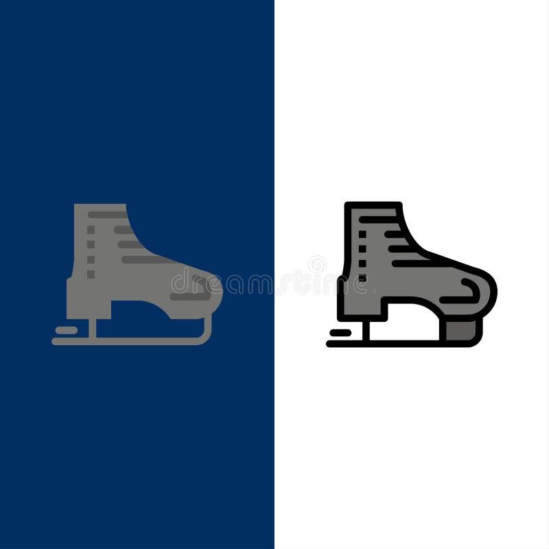 高山,北极,加拿大,滑冰,斯堪的那维亚象 舱内甲板和线被填装的象设置了传染媒介蓝色背景 皇族释放例证
