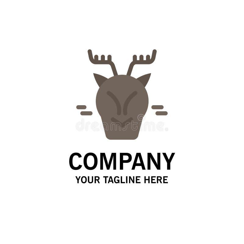 高山,北极,加拿大,驯鹿企业商标模板 o 皇族释放例证