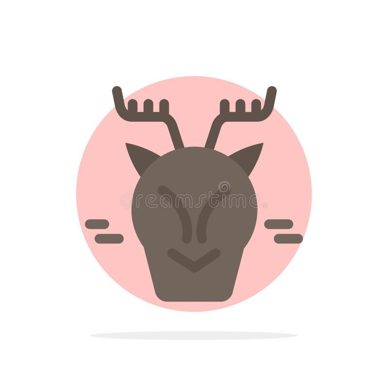 高山,北极,加拿大,驯鹿摘要圈子背景平的颜色象 皇族释放例证