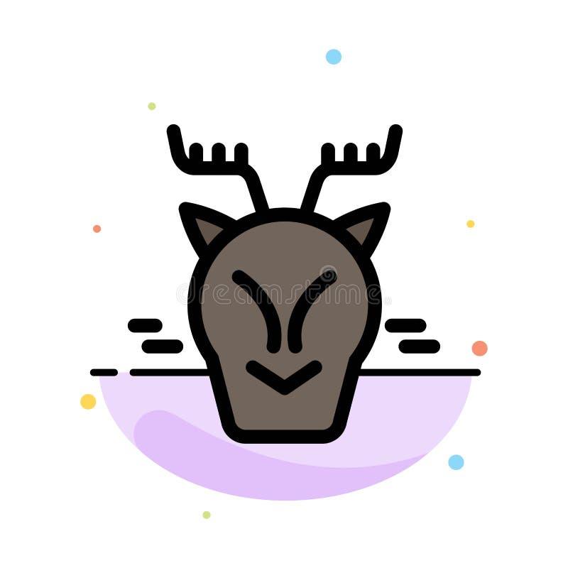 高山,北极,加拿大,驯鹿摘要平的颜色象模板 皇族释放例证