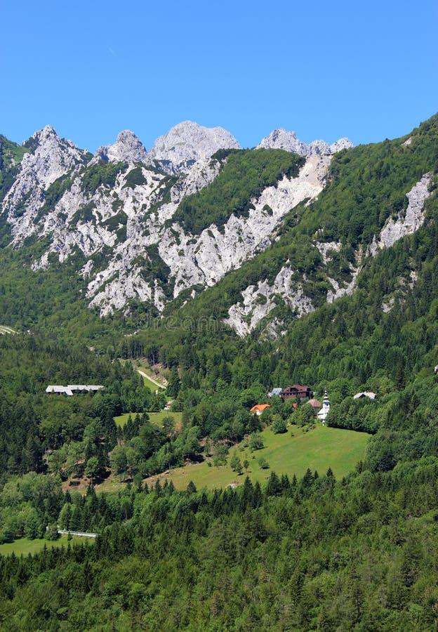 高山ljubelj通过斯洛文尼亚 库存照片