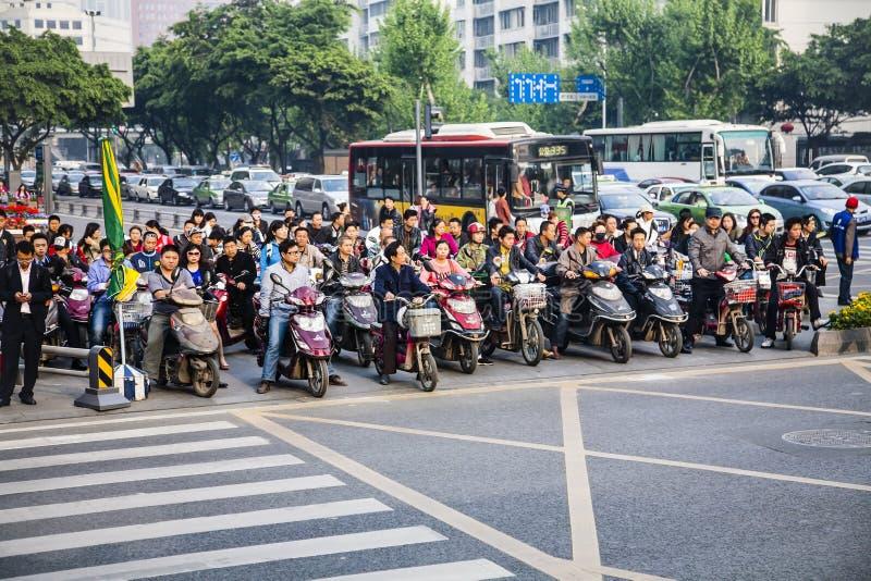 高峰时间,北京,中国 免版税库存图片