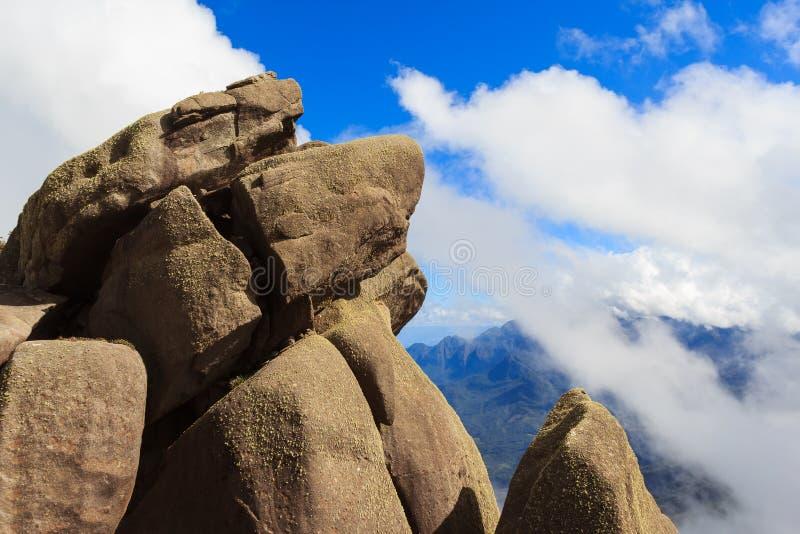 高峰prateleiras山在Itatiaia国家公园,巴西 免版税图库摄影
